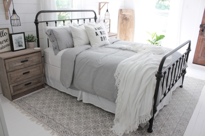 The Bed I Chose Is From Target Its Bralton Metal In A Queen You Can Find It Here Our Bedding Ikea Duvet And Cover For